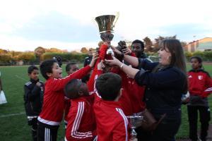 Les U10 du COM Bagneux, victorieux du tournoi.